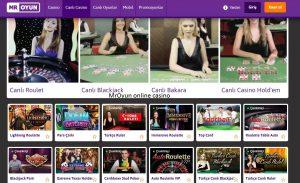En yeni MrOyun canlı casino