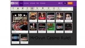 MrOyun Casino Rulet Oyunları